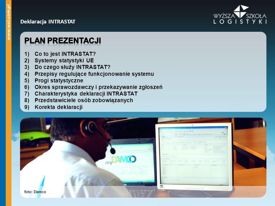 Plan prezentacji Deklaracja INTRASTAT Co to jest INTRASTAT