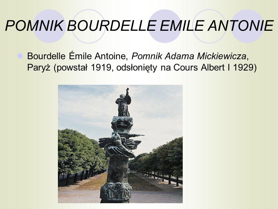 POMNIK BOURDELLE EMILE ANTONIE