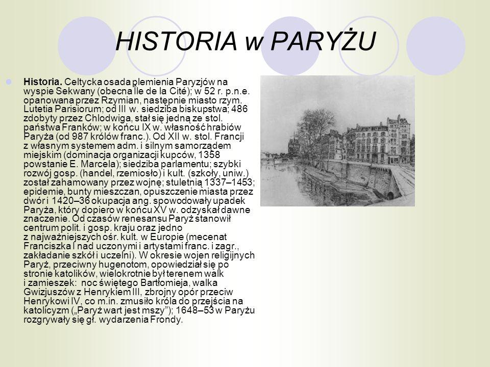 HISTORIA w PARYŻU