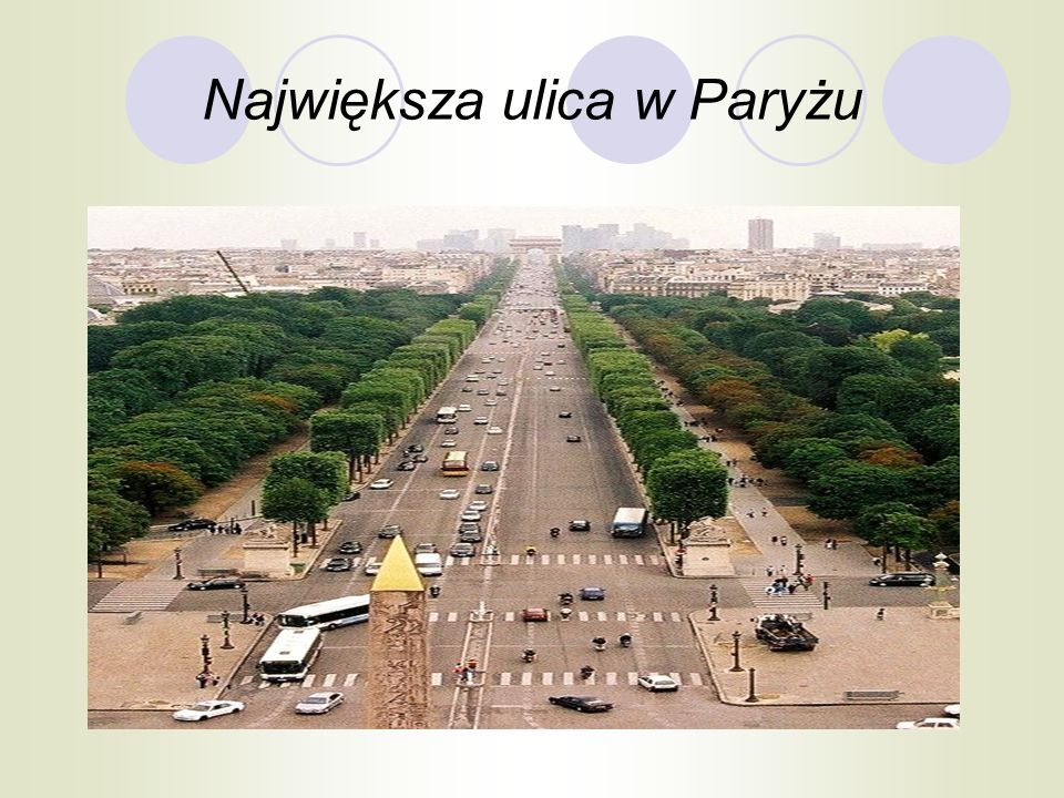 Największa ulica w Paryżu