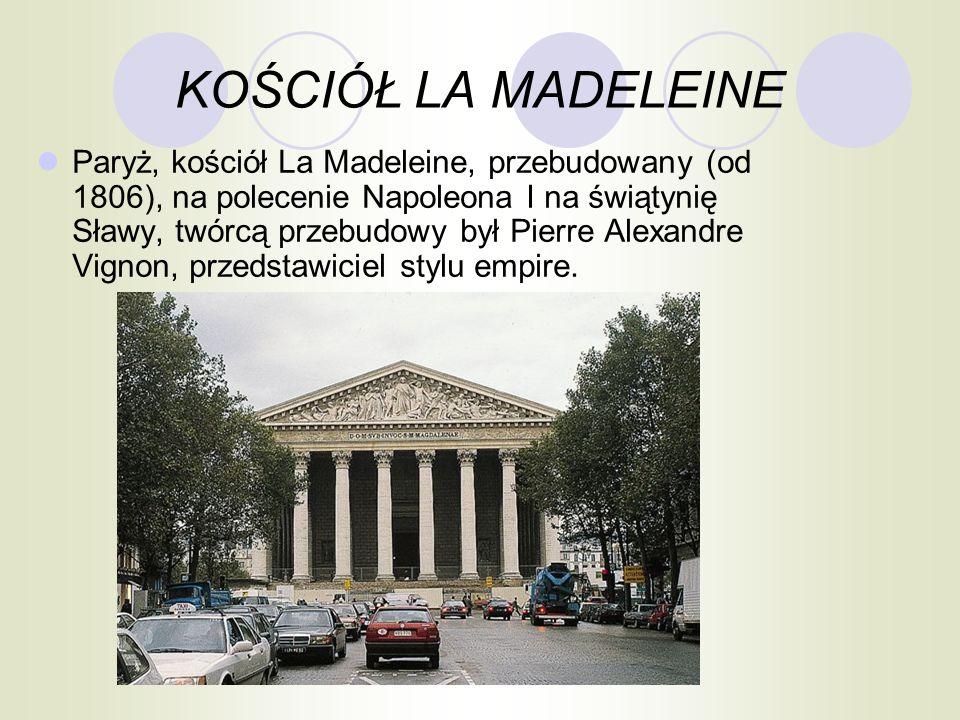 KOŚCIÓŁ LA MADELEINE