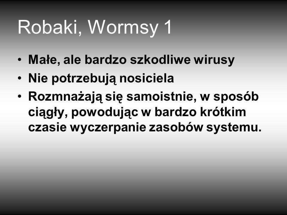 Robaki, Wormsy 1 Małe, ale bardzo szkodliwe wirusy