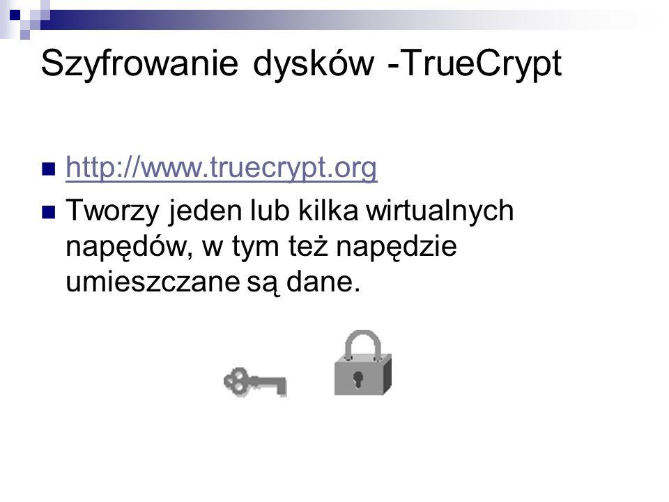 Szyfrowanie dysków -TrueCrypt