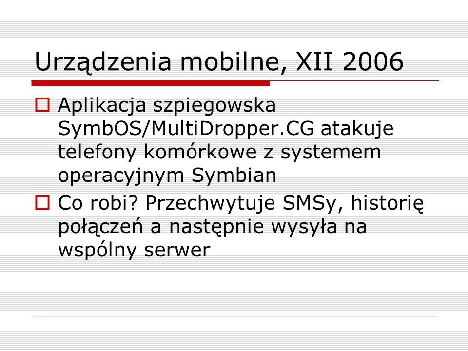Urządzenia mobilne, XII 2006