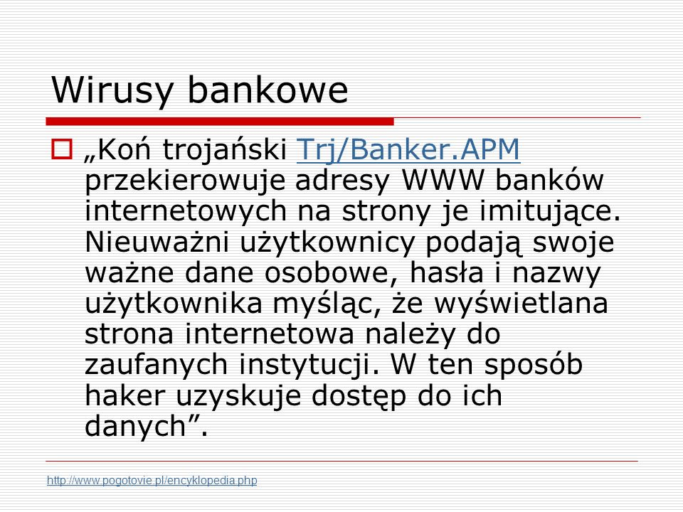 Wirusy bankowe
