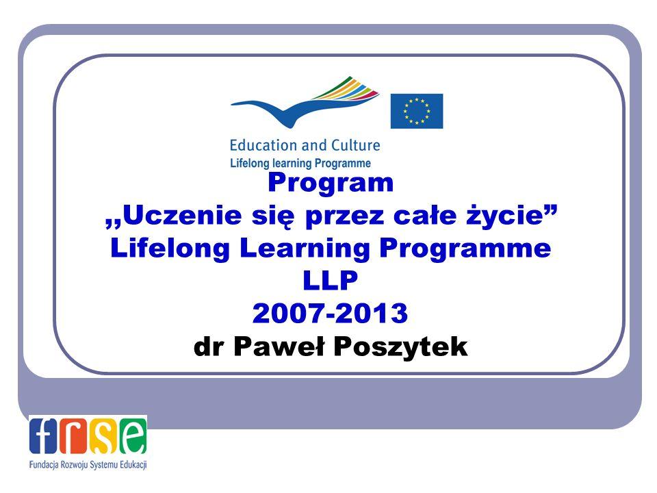 Program ,,Uczenie się przez całe życie Lifelong Learning Programme LLP 2007-2013 dr Paweł Poszytek