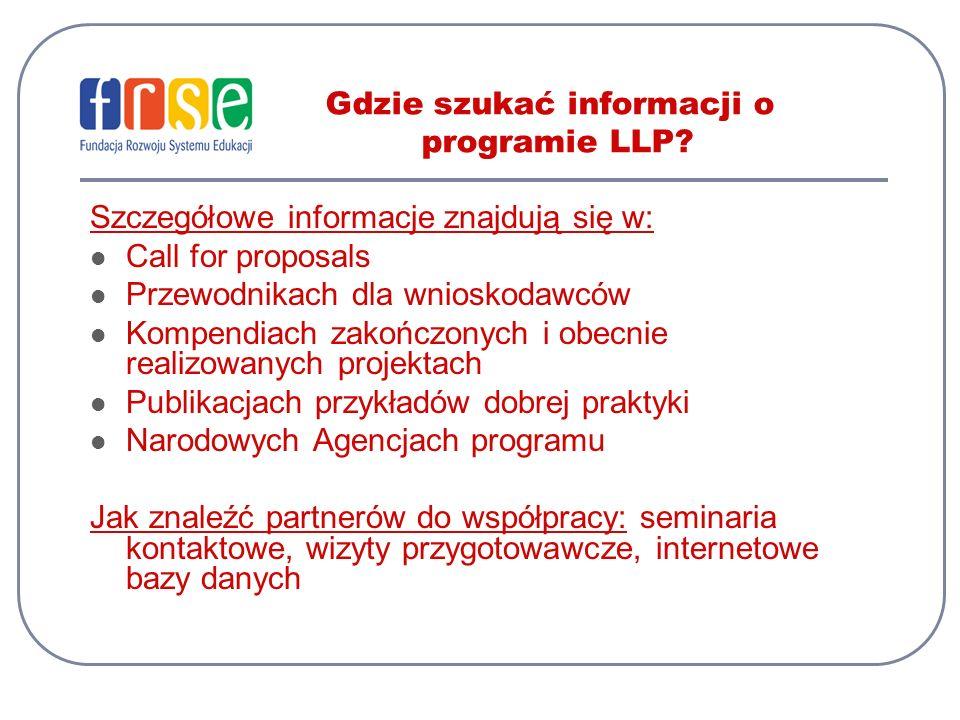 Gdzie szukać informacji o programie LLP