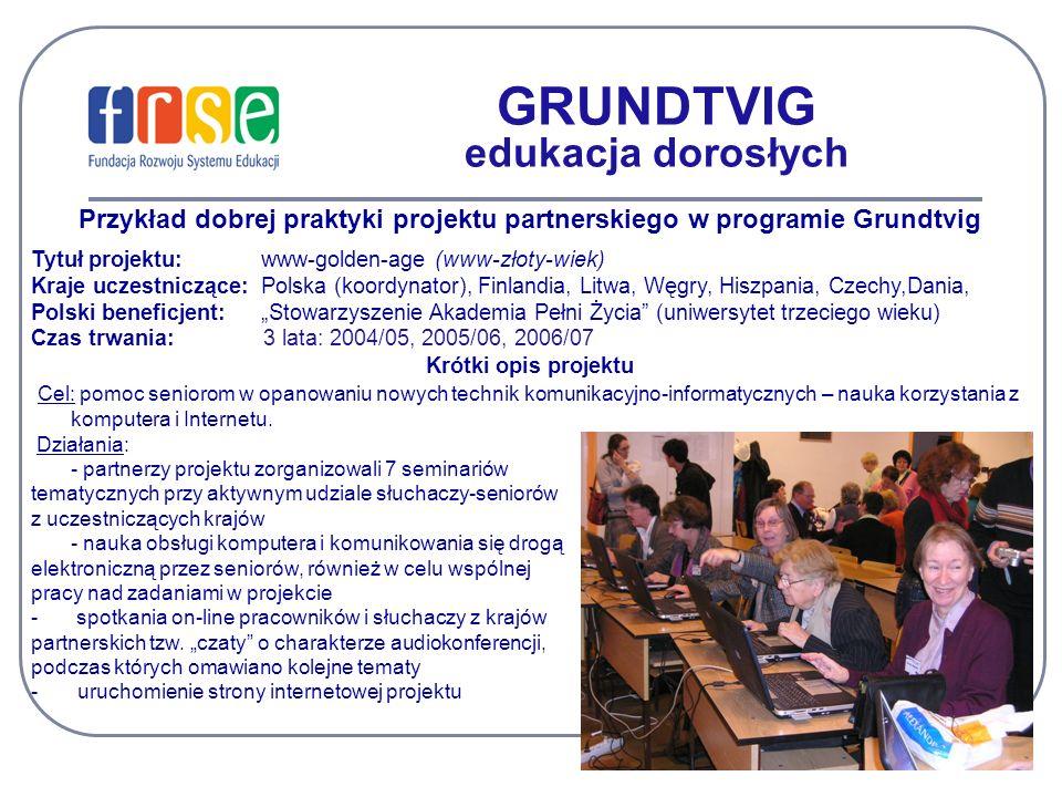 GRUNDTVIG edukacja dorosłych