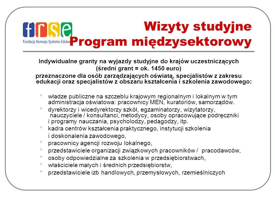 Wizyty studyjne Program międzysektorowy