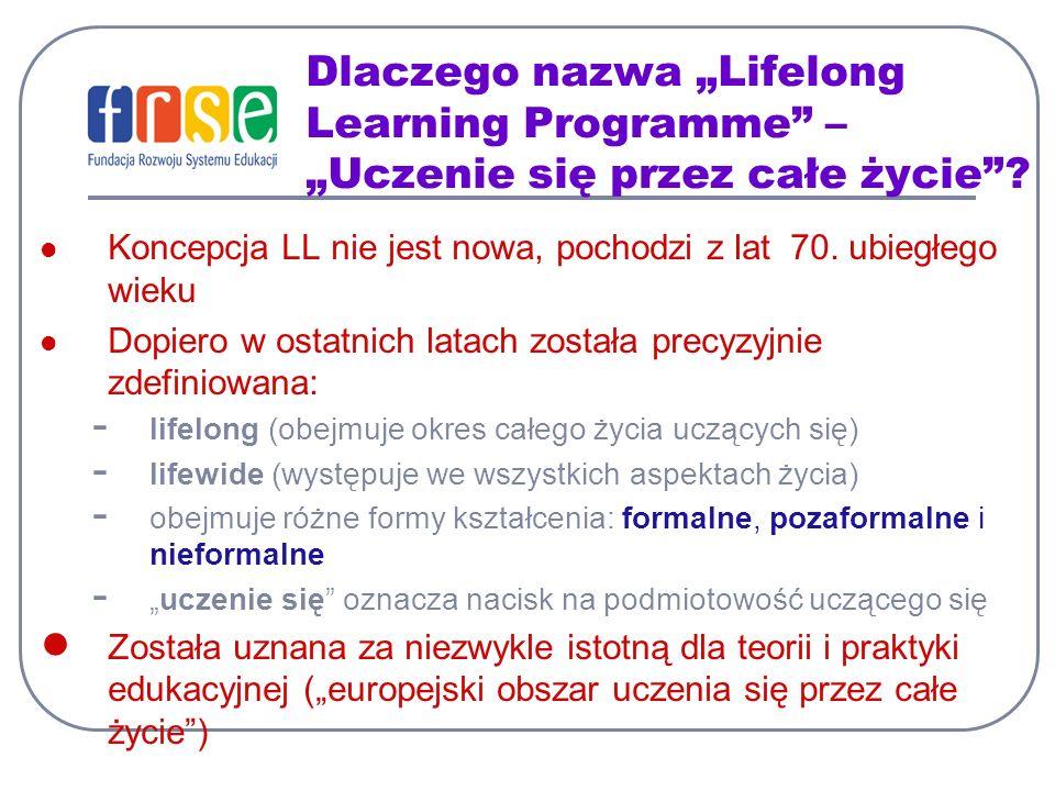 """Dlaczego nazwa """"Lifelong Learning Programme – """"Uczenie się przez całe życie"""