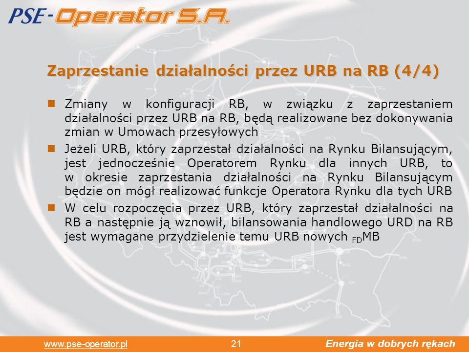 Zaprzestanie działalności przez URB na RB (4/4)
