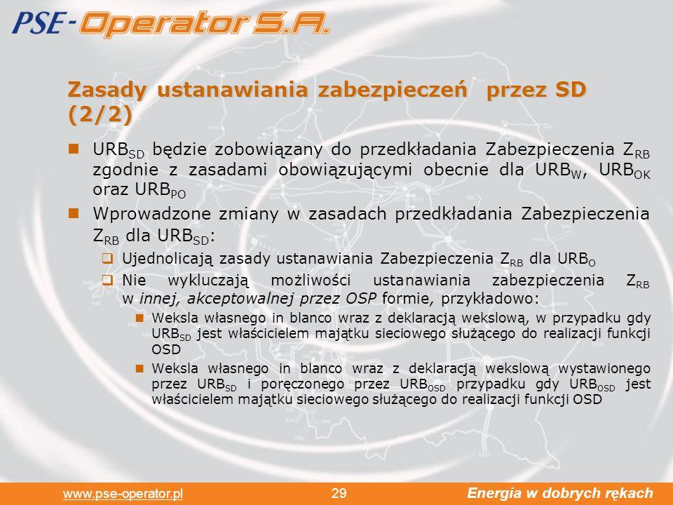 Zasady ustanawiania zabezpieczeń przez SD (2/2)