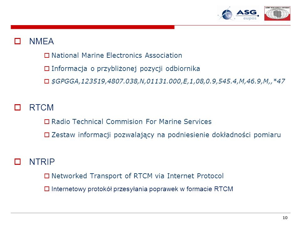 NMEA RTCM NTRIP National Marine Electronics Association