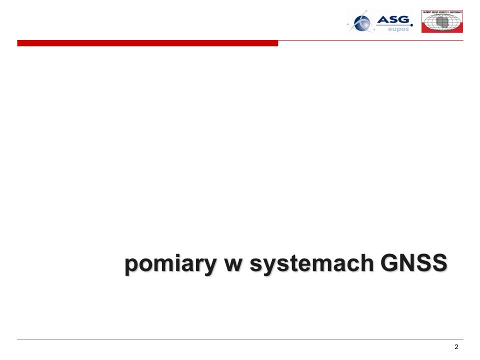 pomiary w systemach GNSS