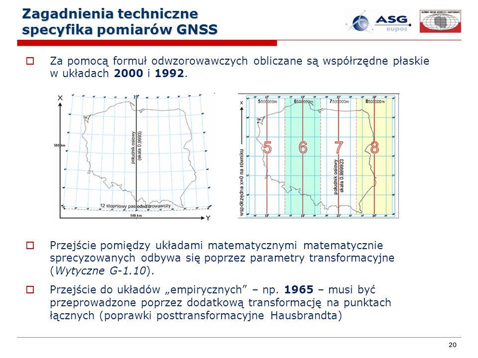 Zagadnienia techniczne specyfika pomiarów GNSS