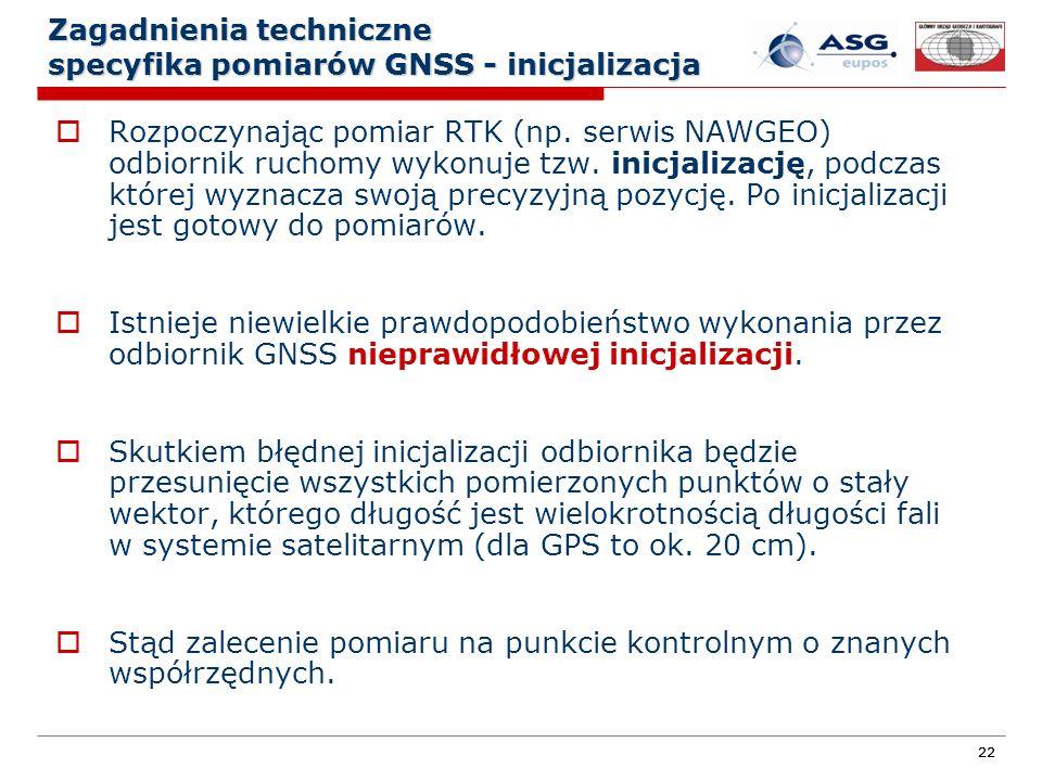 Zagadnienia techniczne specyfika pomiarów GNSS - inicjalizacja