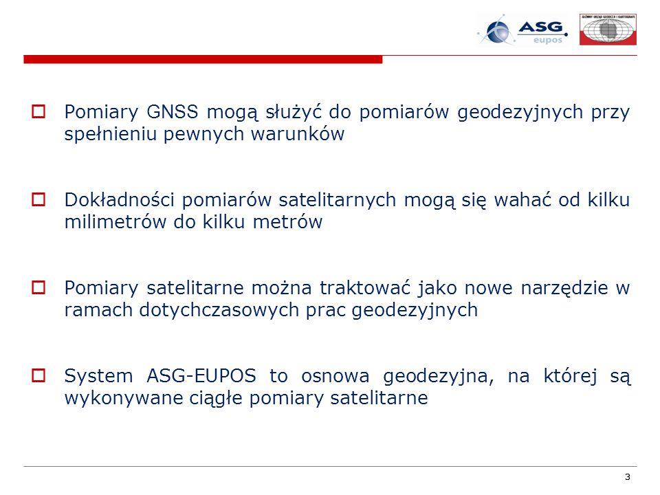 Pomiary GNSS mogą służyć do pomiarów geodezyjnych przy spełnieniu pewnych warunków