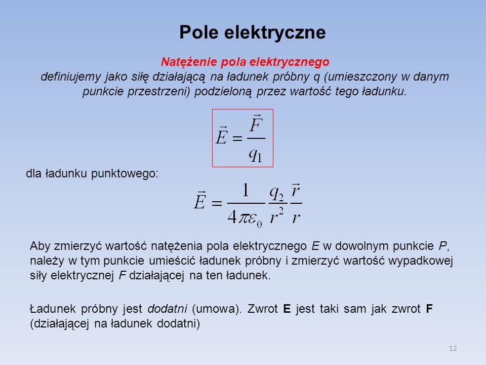 Natężenie pola elektrycznego