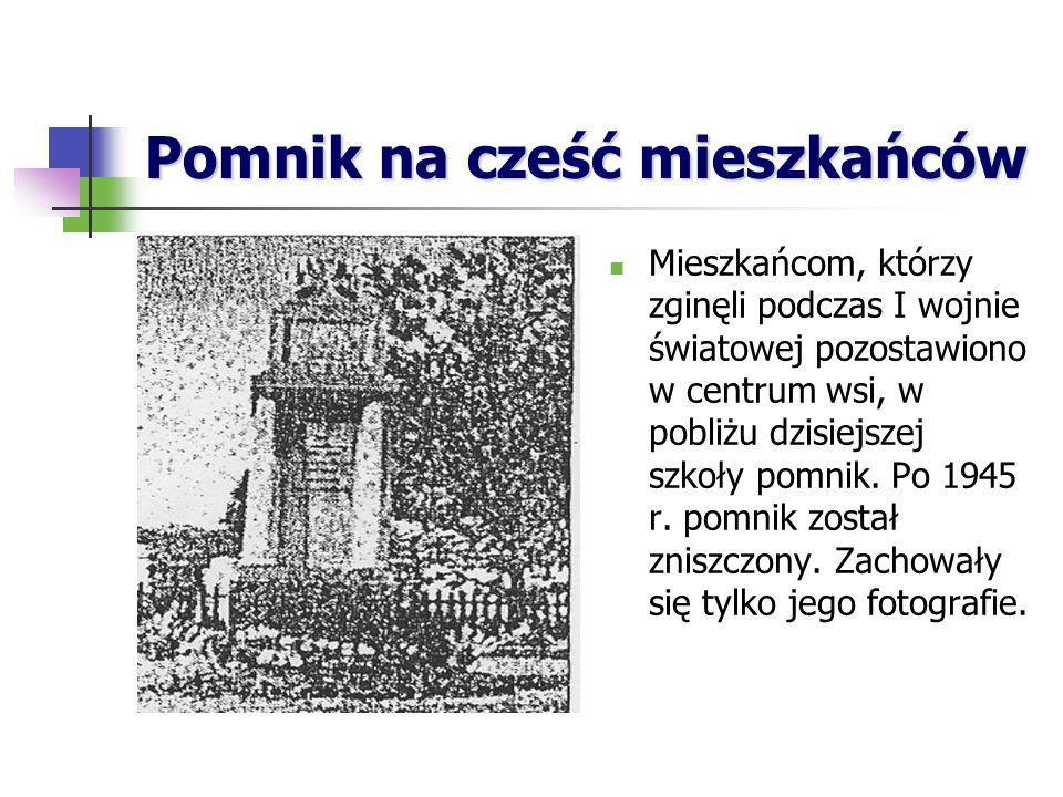 Pomnik na cześć mieszkańców