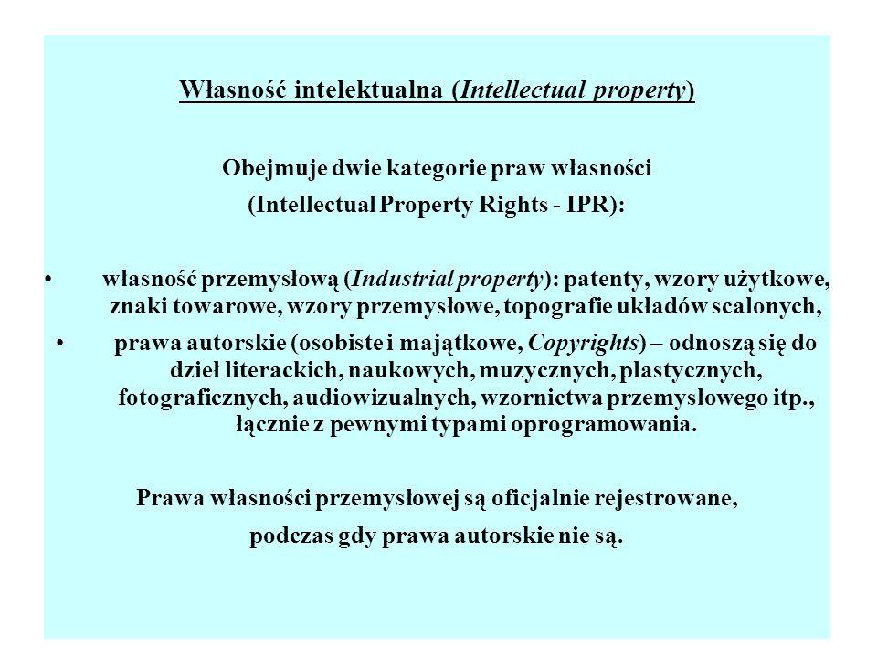 Własność intelektualna (Intellectual property)