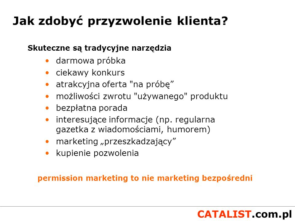 permission marketing to nie marketing bezpośredni