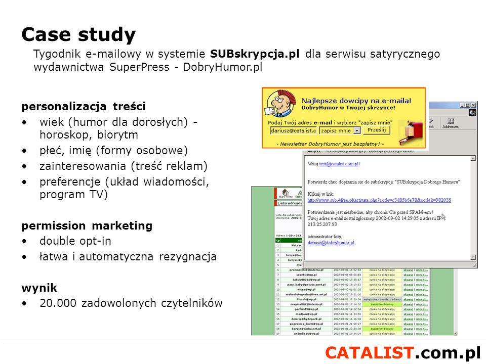 Case study Tygodnik e-mailowy w systemie SUBskrypcja.pl dla serwisu satyrycznego wydawnictwa SuperPress - DobryHumor.pl.