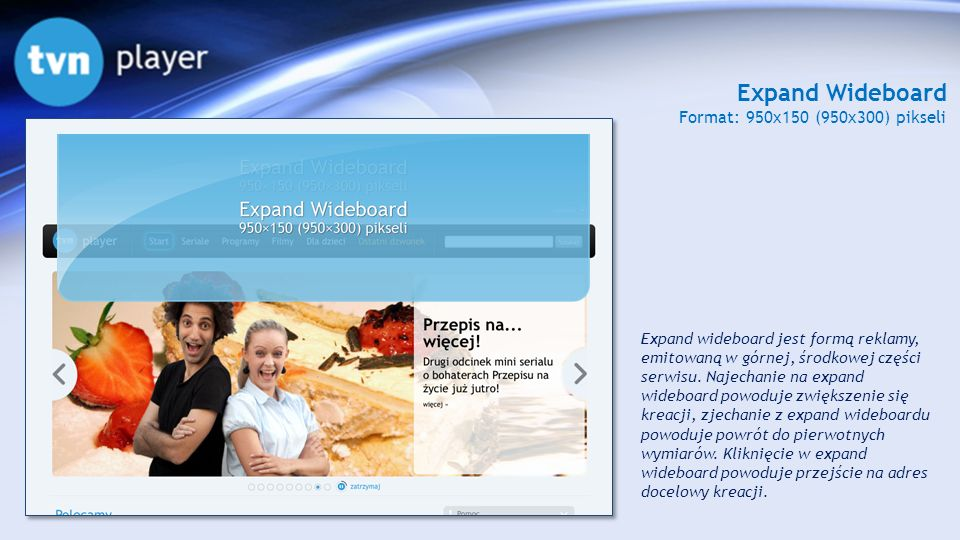 Expand Wideboard Format: 950x150 (950x300) pikseli