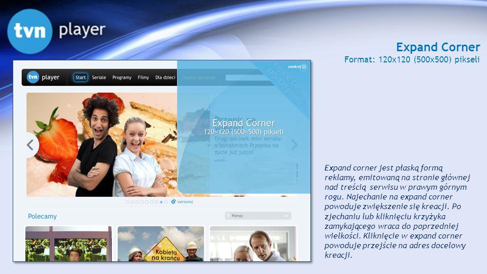 Expand Corner Format: 120x120 (500x500) pikseli