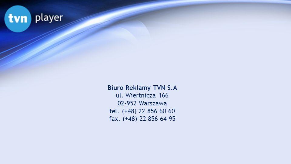 Biuro Reklamy TVN S.A ul. Wiertnicza 166 02-952 Warszawa