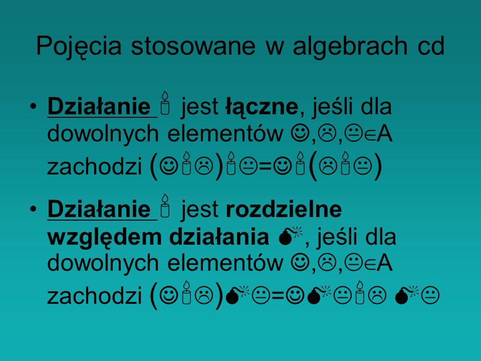 Pojęcia stosowane w algebrach cd