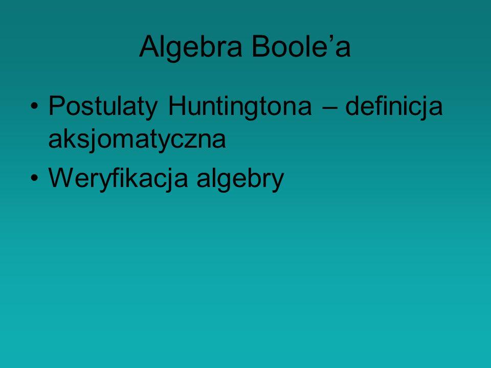 Algebra Boole'a Postulaty Huntingtona – definicja aksjomatyczna