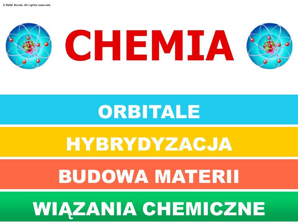 CHEMIA ORBITALE HYBRYDYZACJA BUDOWA MATERII BUDOWA MATERII