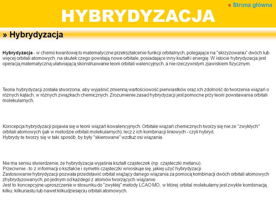 HYBRYDYZACJA BUDOWA MATERII » Hybrydyzacja « Strona główna