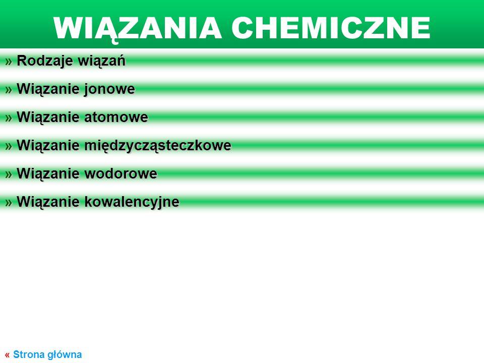 WIĄZANIA CHEMICZNE » Rodzaje wiązań » Wiązanie jonowe
