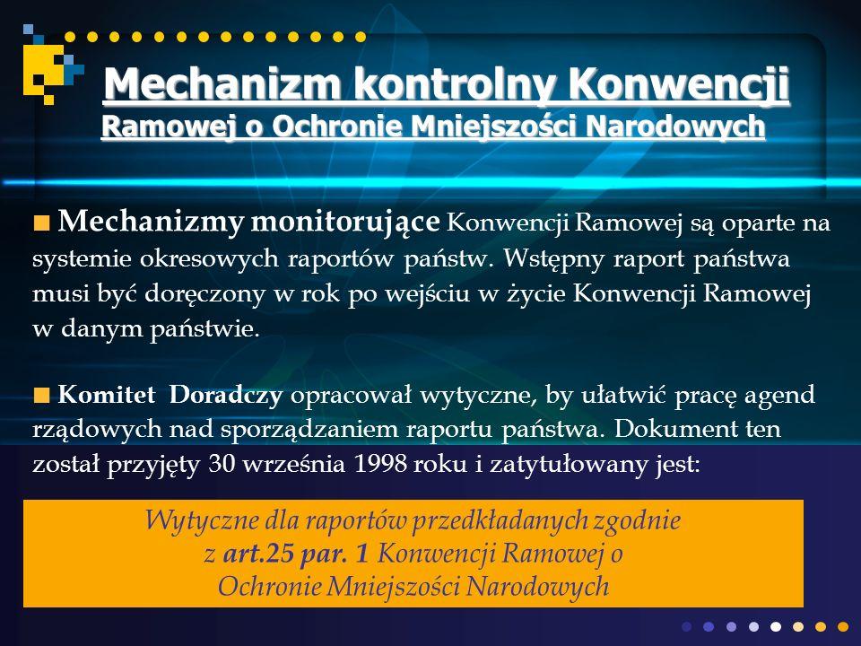 Mechanizm kontrolny Konwencji Ramowej o Ochronie Mniejszości Narodowych