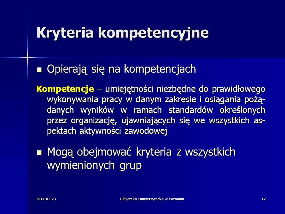 Kryteria kompetencyjne