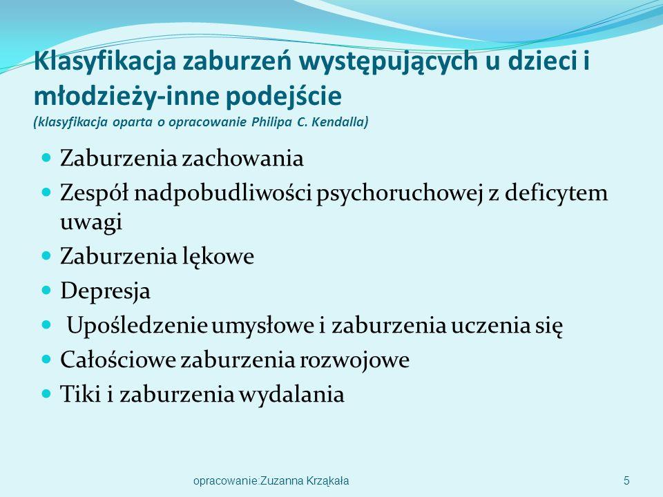 Klasyfikacja zaburzeń występujących u dzieci i młodzieży-inne podejście (klasyfikacja oparta o opracowanie Philipa C. Kendalla)