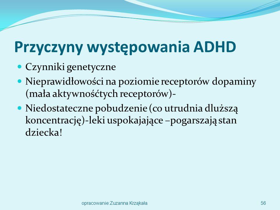 Przyczyny występowania ADHD