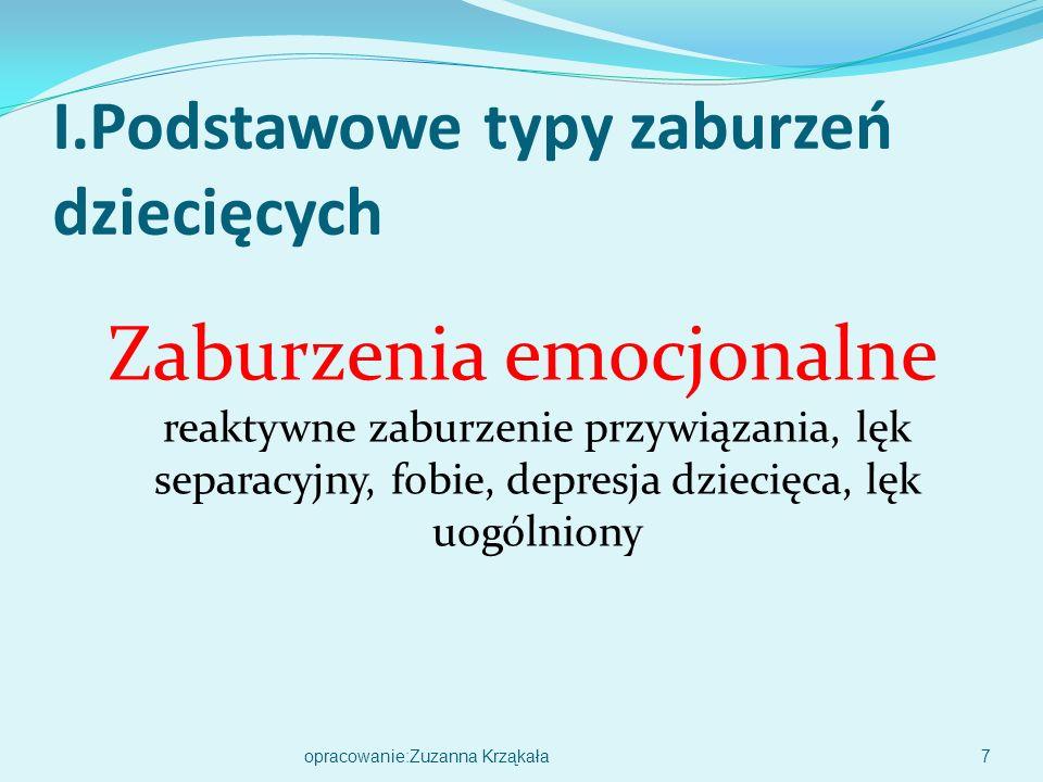I.Podstawowe typy zaburzeń dziecięcych