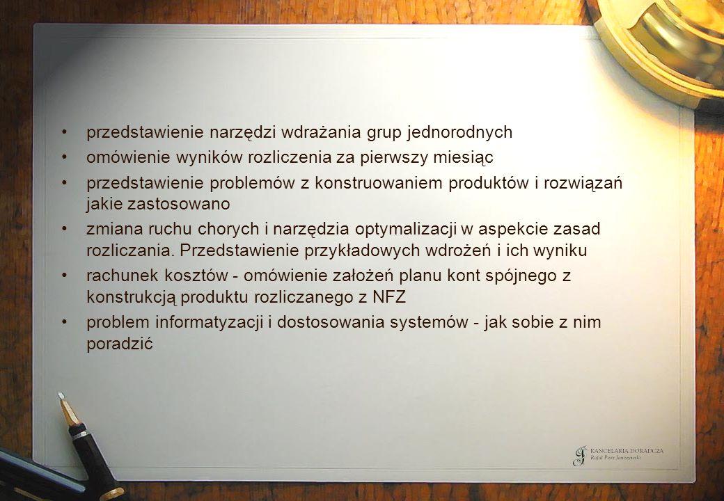 przedstawienie narzędzi wdrażania grup jednorodnych