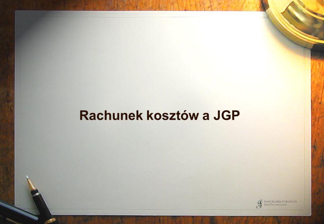 Rachunek kosztów a JGP