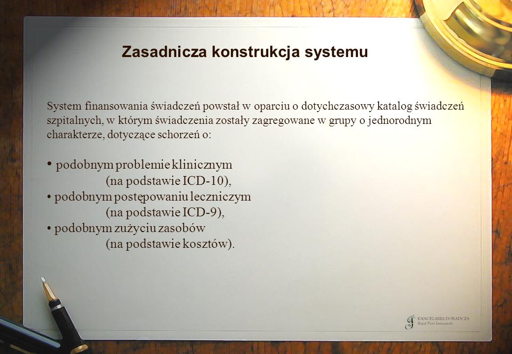 Zasadnicza konstrukcja systemu