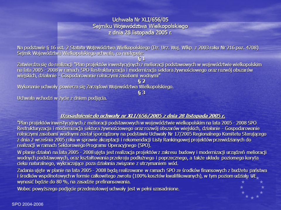 Sejmiku Województwa Wielkopolskiego z dnia 28 listopada 2005 r.