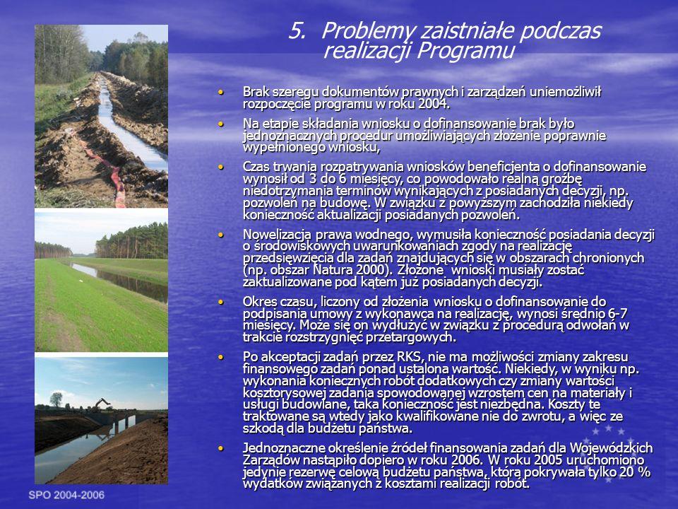 5. Problemy zaistniałe podczas realizacji Programu