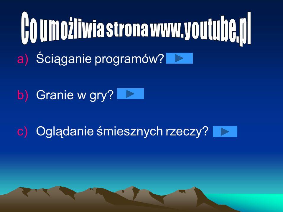 Co umożliwia strona www.youtube.pl