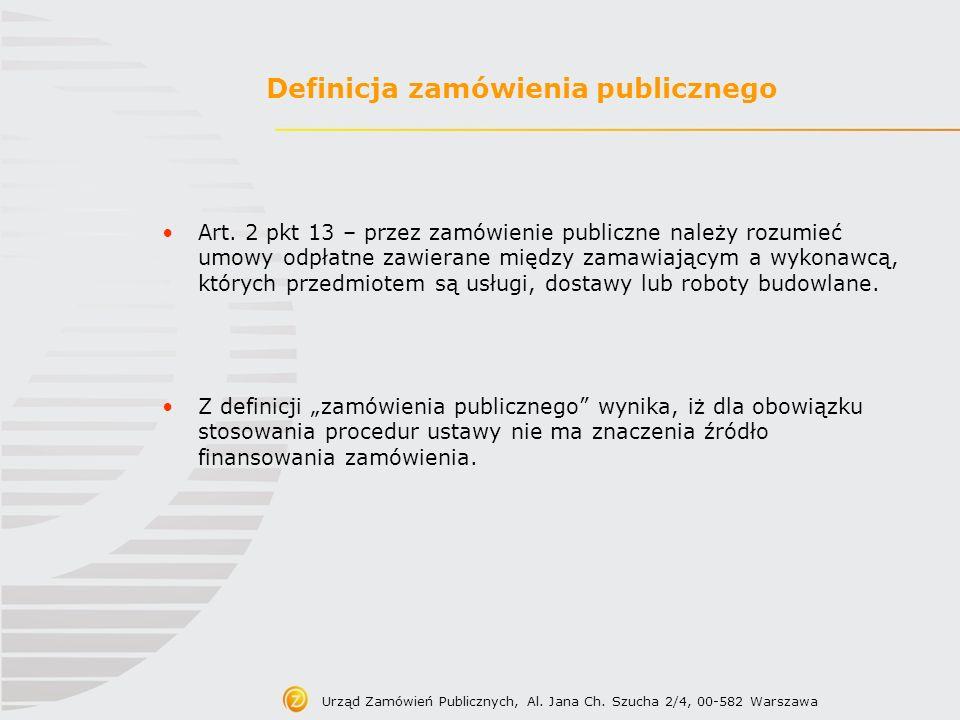 Definicja zamówienia publicznego
