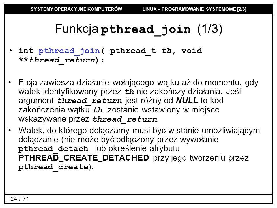 Funkcja pthread_join (1/3)