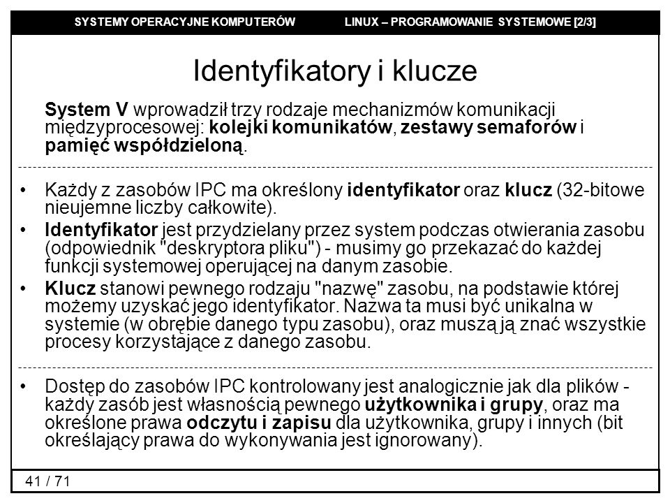 Identyfikatory i klucze