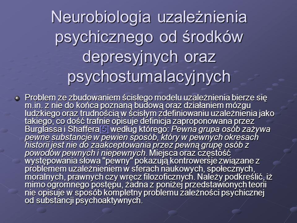 Neurobiologia uzależnienia psychicznego od środków depresyjnych oraz psychostumalacyjnych