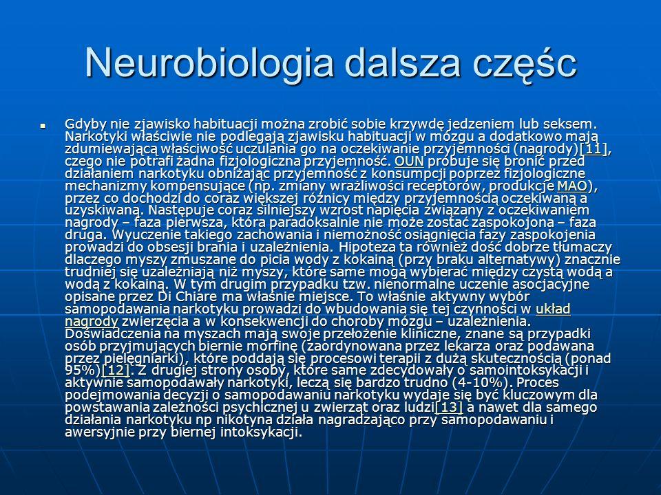 Neurobiologia dalsza częśc